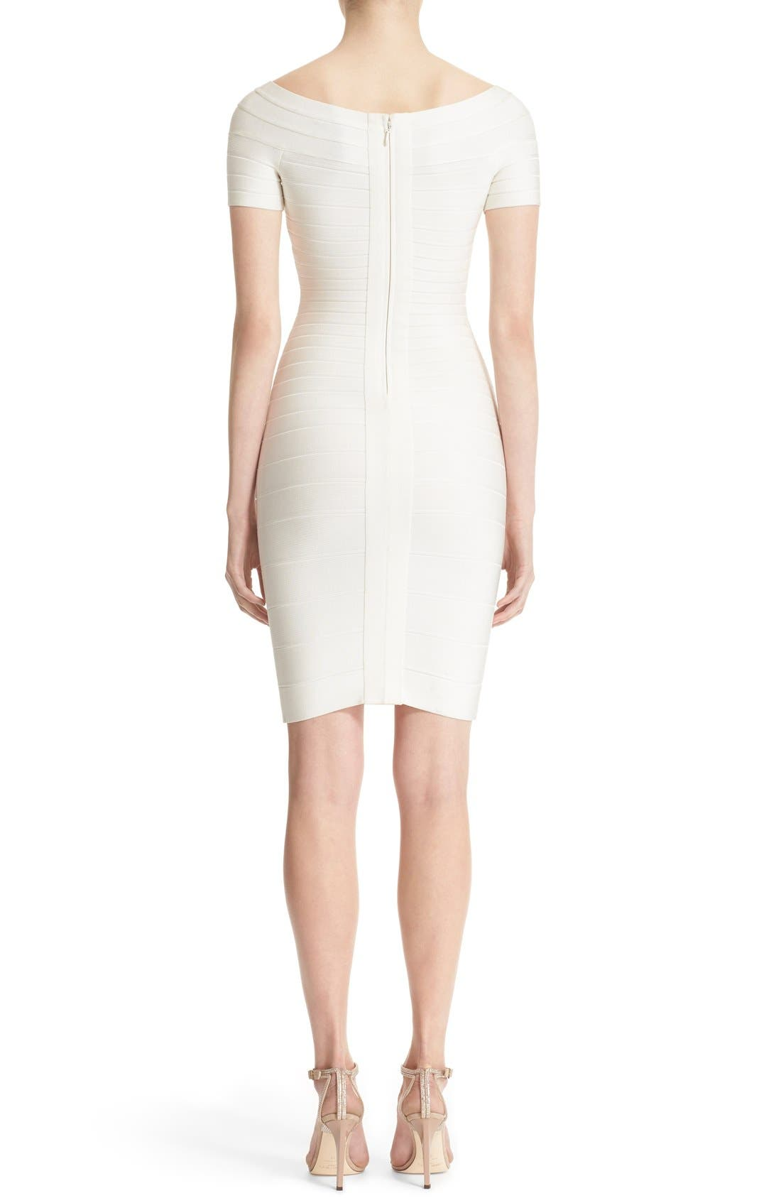 Alternate Image 2  - Herve Leger 'Carmen' Off the Shoulder Bandage Dress