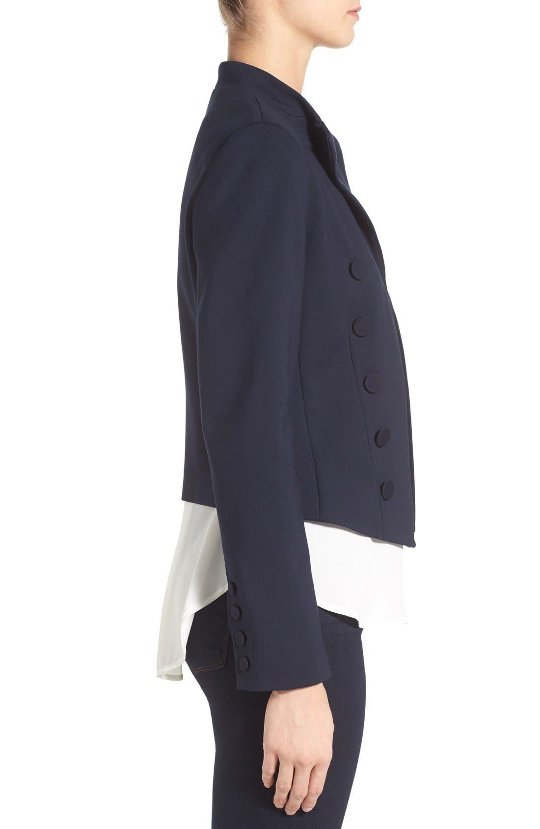 Alternate Image 3  - Ellen Tracy Double Breasted Knit Blazer (Regular & Petite)