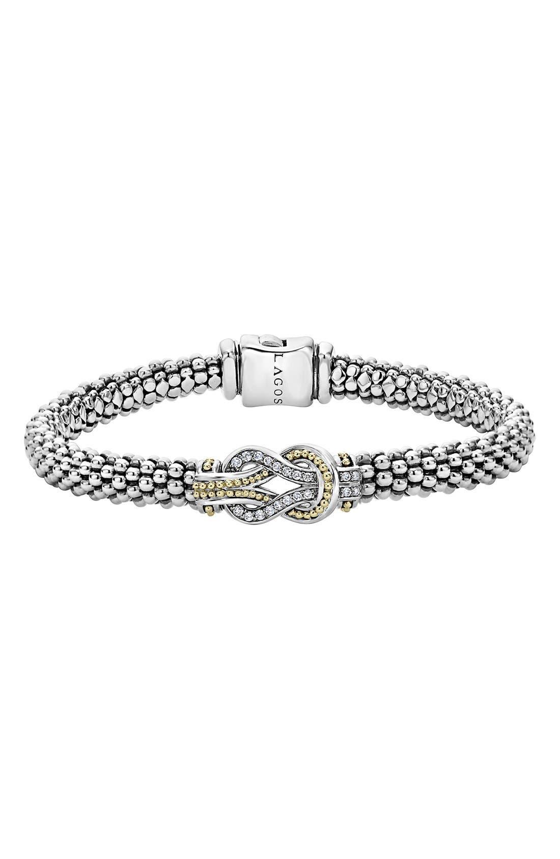 Alternate Image 1 Selected - LAGOS 'Newport' Diamond Knot Bracelet