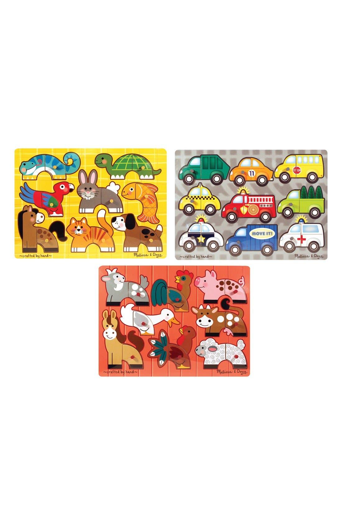 Melissa & Doug Mix 'N' Match Puzzles (Set of 3)