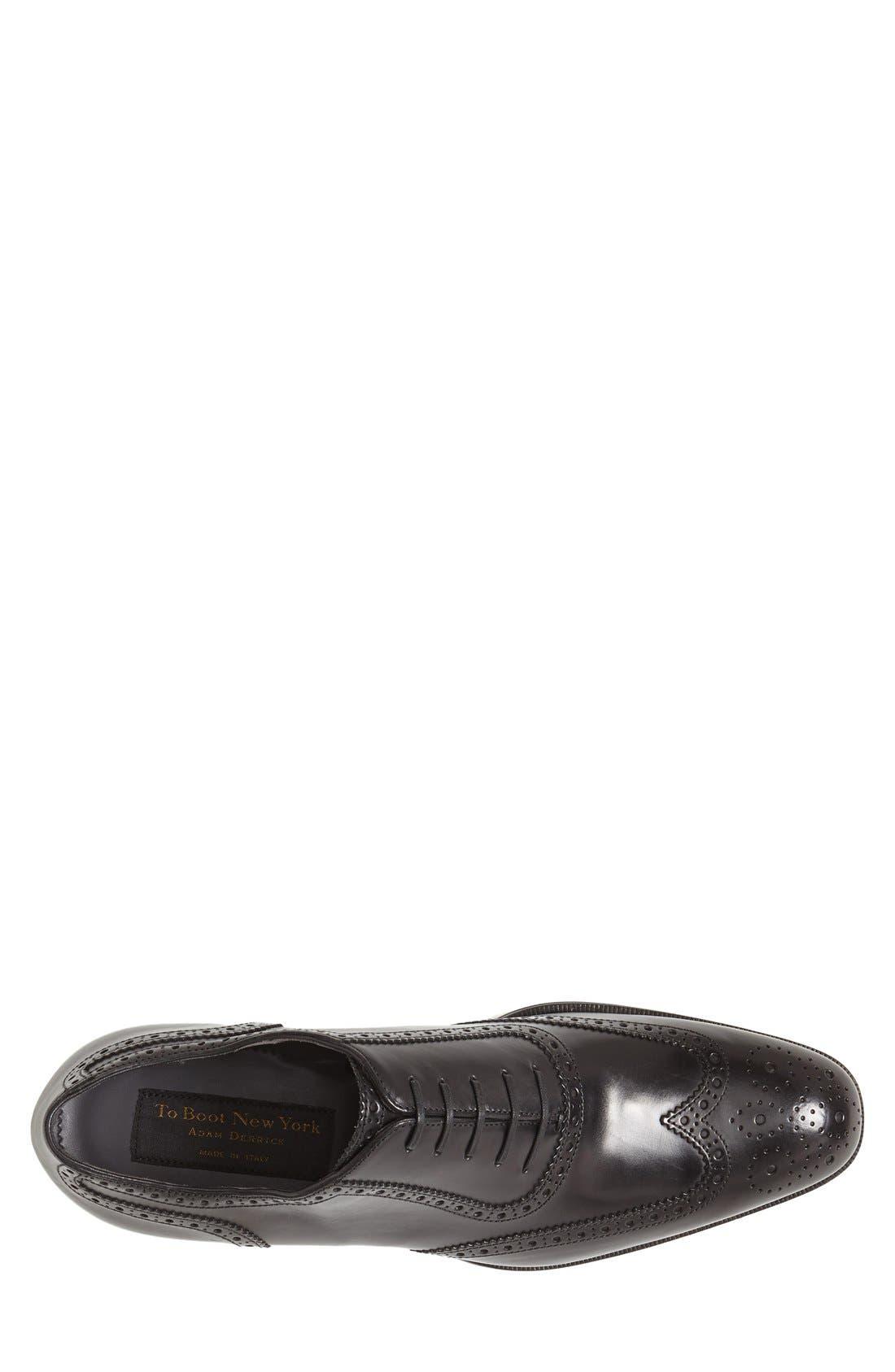 'Duke' Wingtip,                             Alternate thumbnail 5, color,                             Black Leather