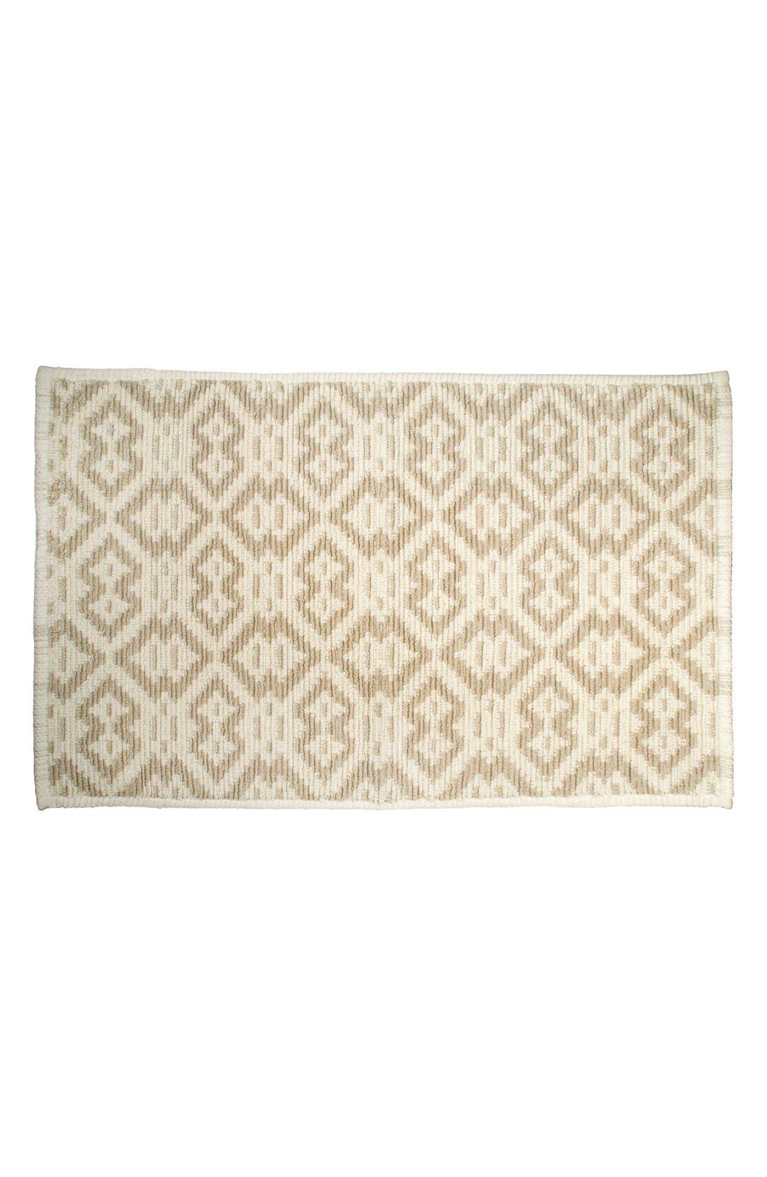 'Manzar' Bath Rug,                         Main,                         color, Linen