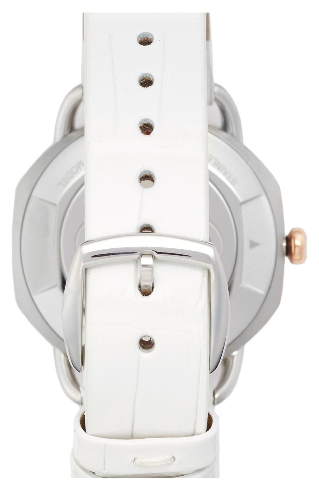 Alternate Image 2  - Fendi 'Selleria' Leather Strap Watch, 36mm