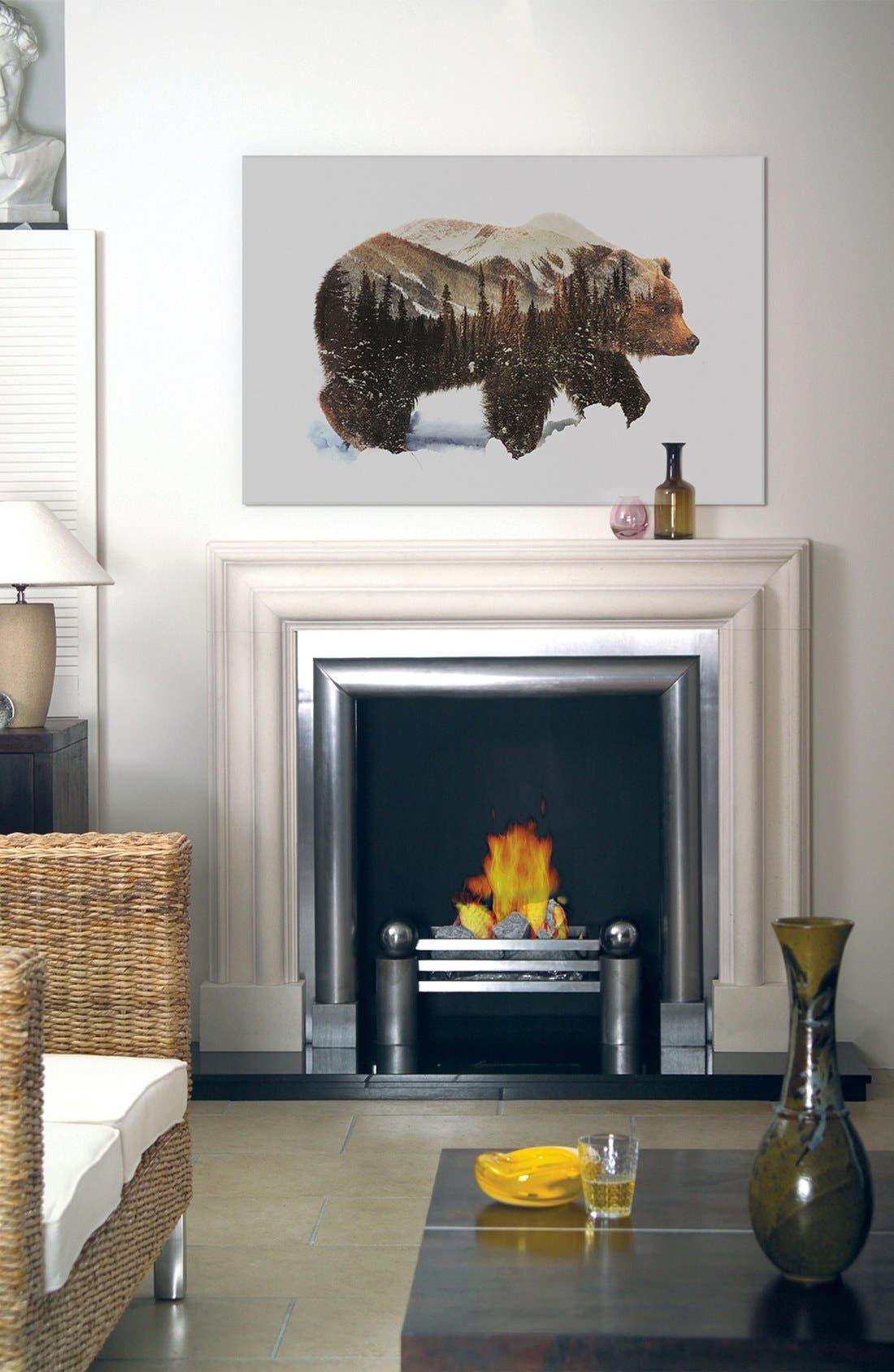 Alternate Image 2  - iCanvas 'Grizzly Bear' Giclée Print Canvas Art