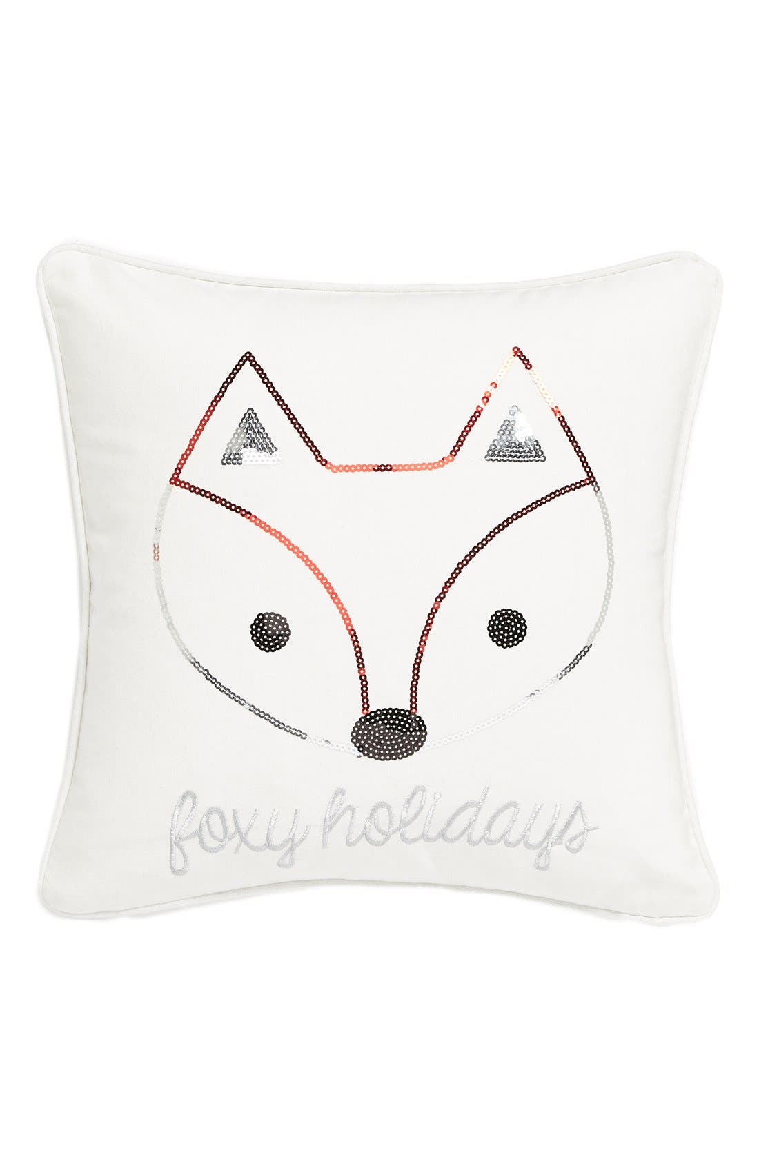 Alternate Image 1 Selected - Levtex 'Foxy Holiday' Sequin Pillow