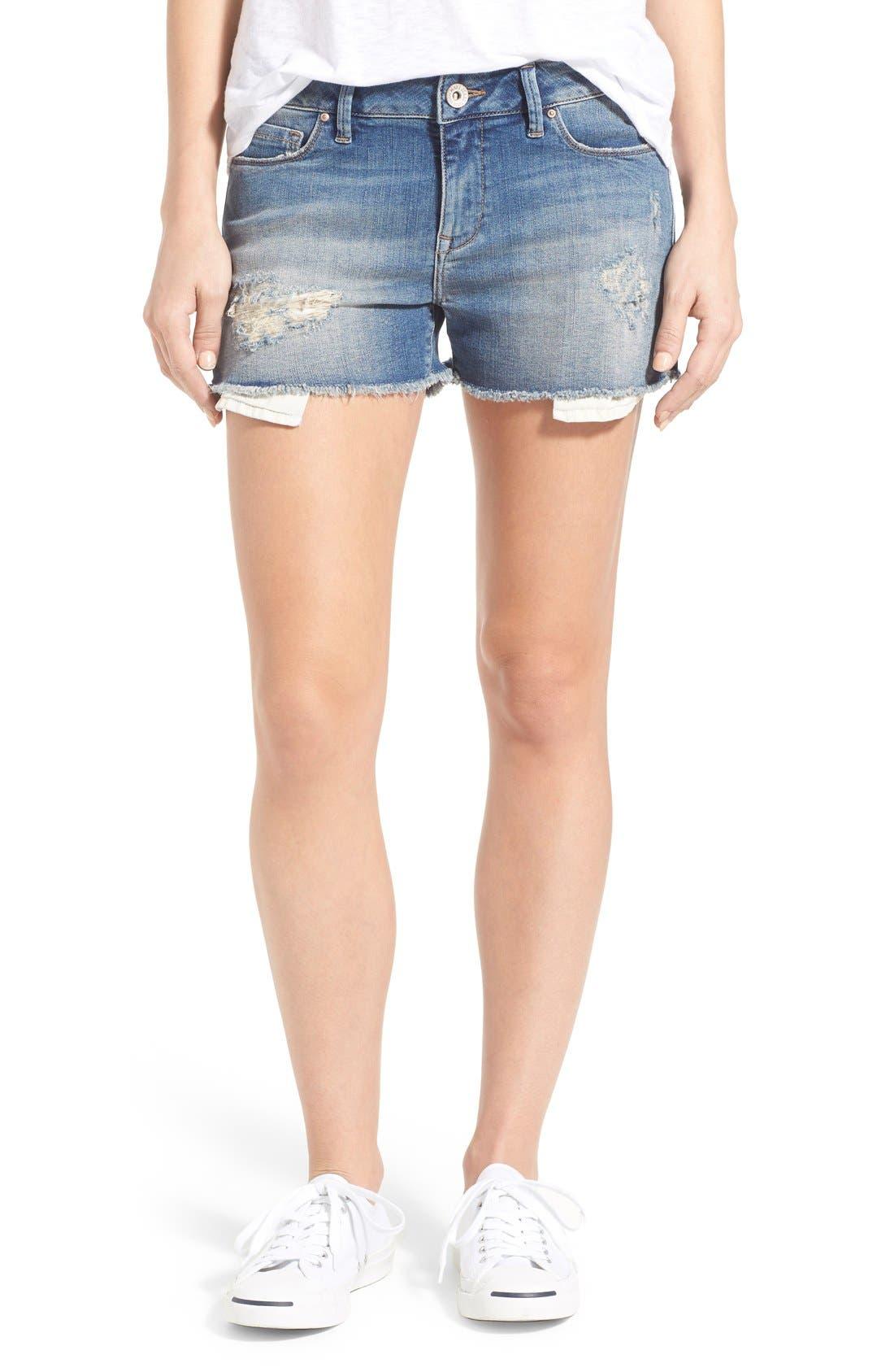 Mavi Jeans Emily Ripped Cutoff Denim Shorts (Online Only)
