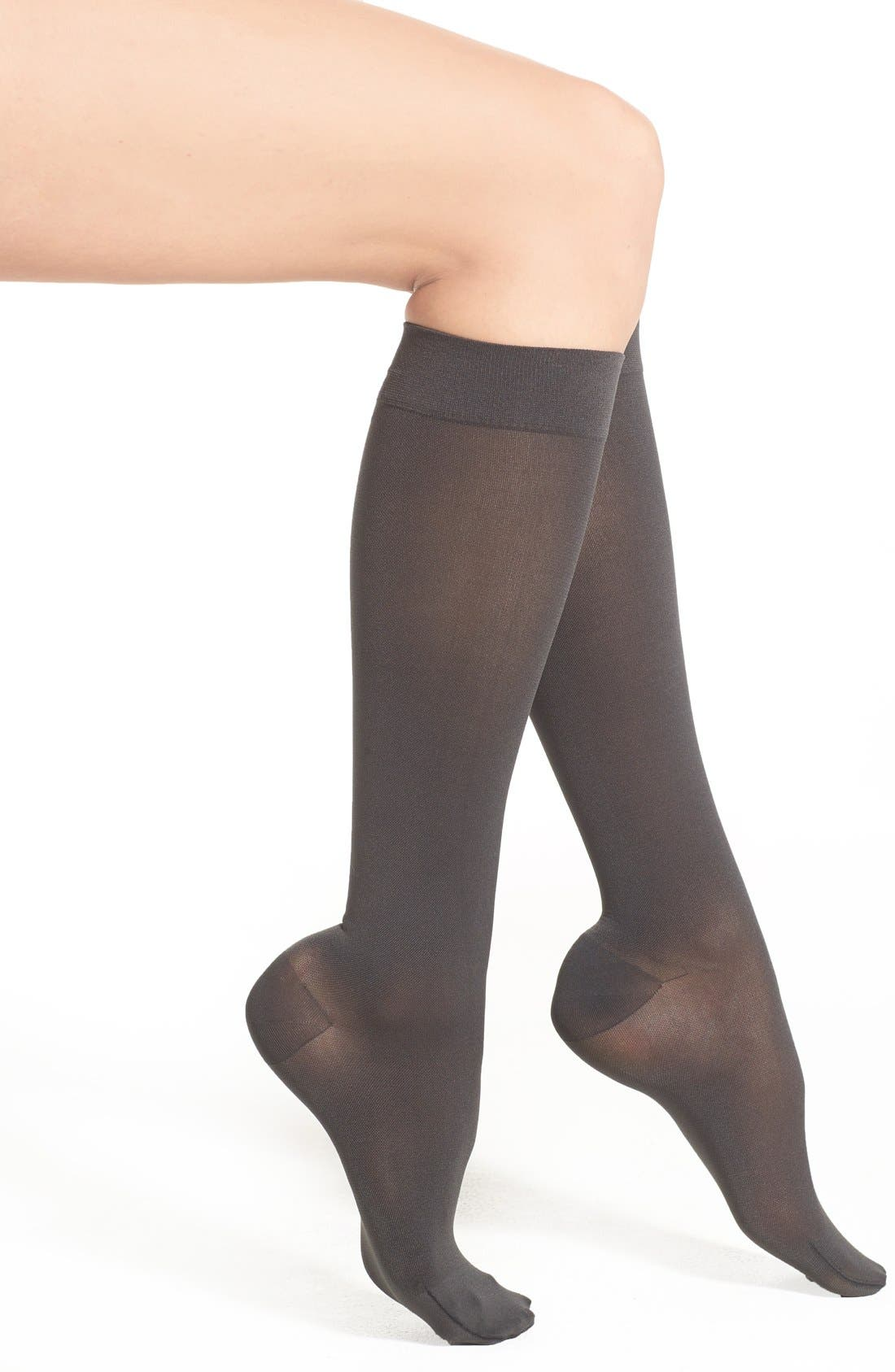 'Headliner' Compression Knee High Socks,                             Main thumbnail 1, color,                             Graphite