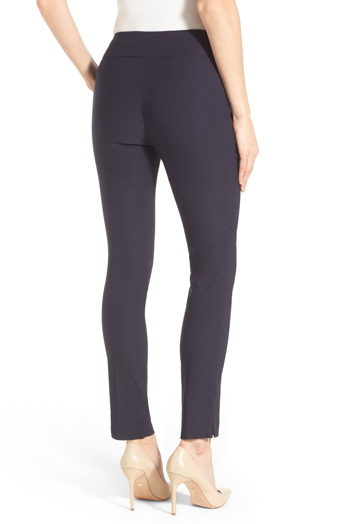 'The Wonder Stretch' Slim Leg Pants,                             Alternate thumbnail 2, color,                             Midnight