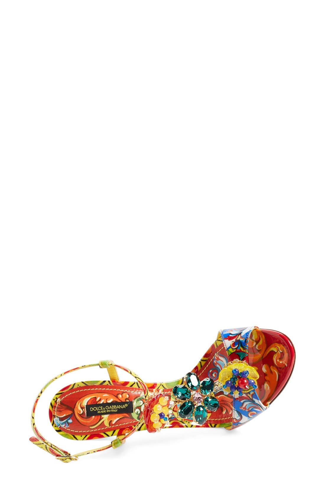Alternate Image 3  - Dolce&Gabbana Jeweled T-Strap Sandal (Women)