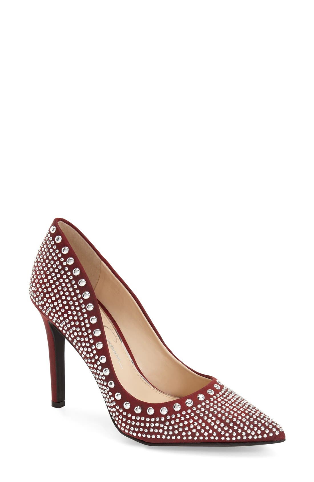 Alternate Image 1 Selected - Jessica Simpson 'Creswell' Stud Pump (Women)