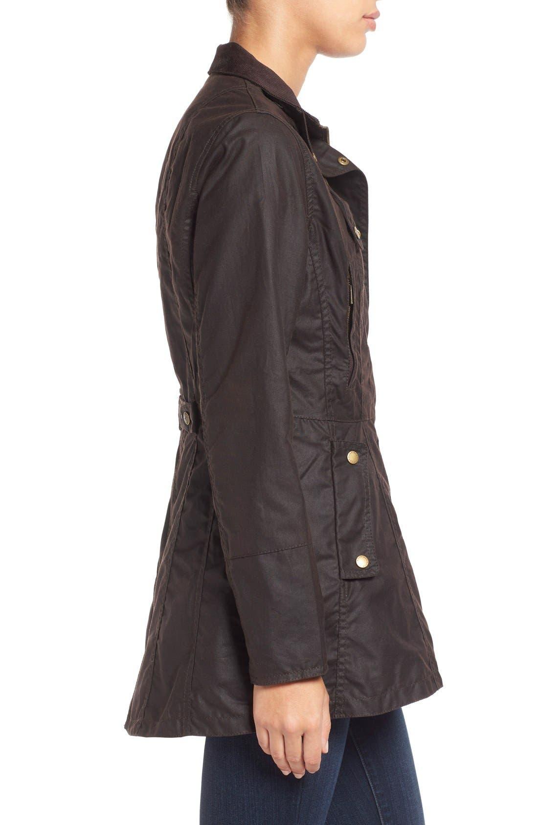 Alternate Image 4  - Barbour 'Holsteiner' Skirted Waxed Cotton Jacket