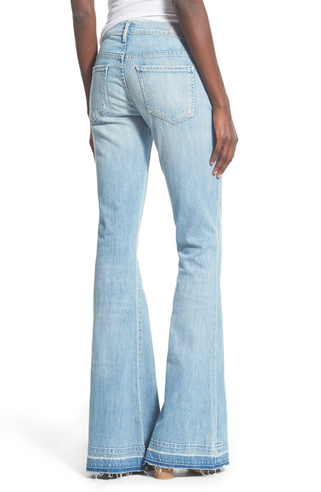 Alternate Image 2  - A Gold E 'Madison' Ultra Flare Jeans (Blue Lagoon)