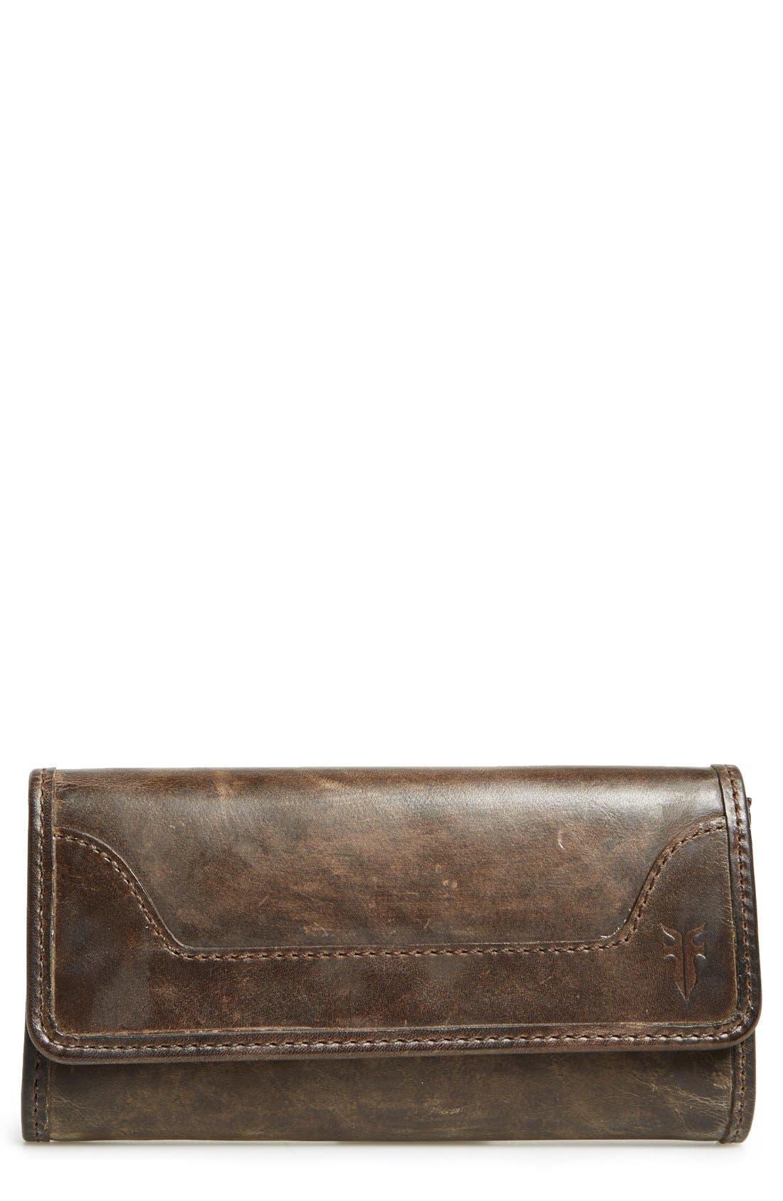 'Melissa' Continental Wallet,                         Main,                         color, Slate