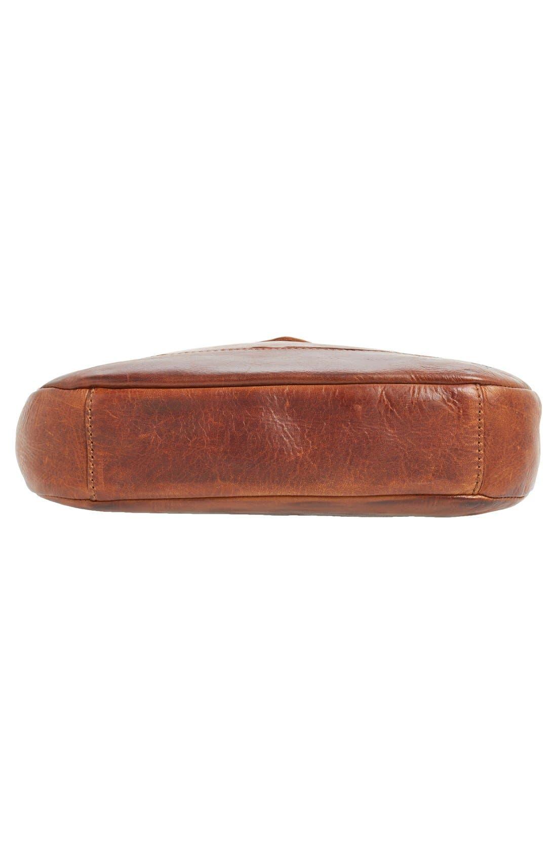 Melissa Button Crossbody Bag,                             Alternate thumbnail 6, color,                             Cognac