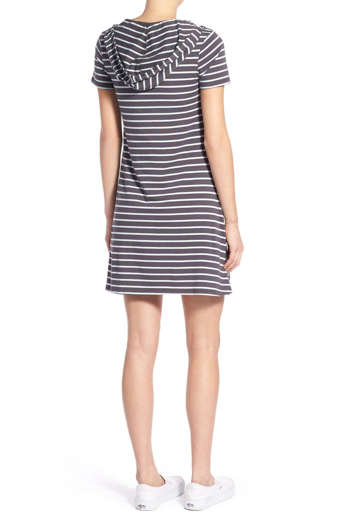 Alternate Image 2  - Element Stripe Hooded Dress
