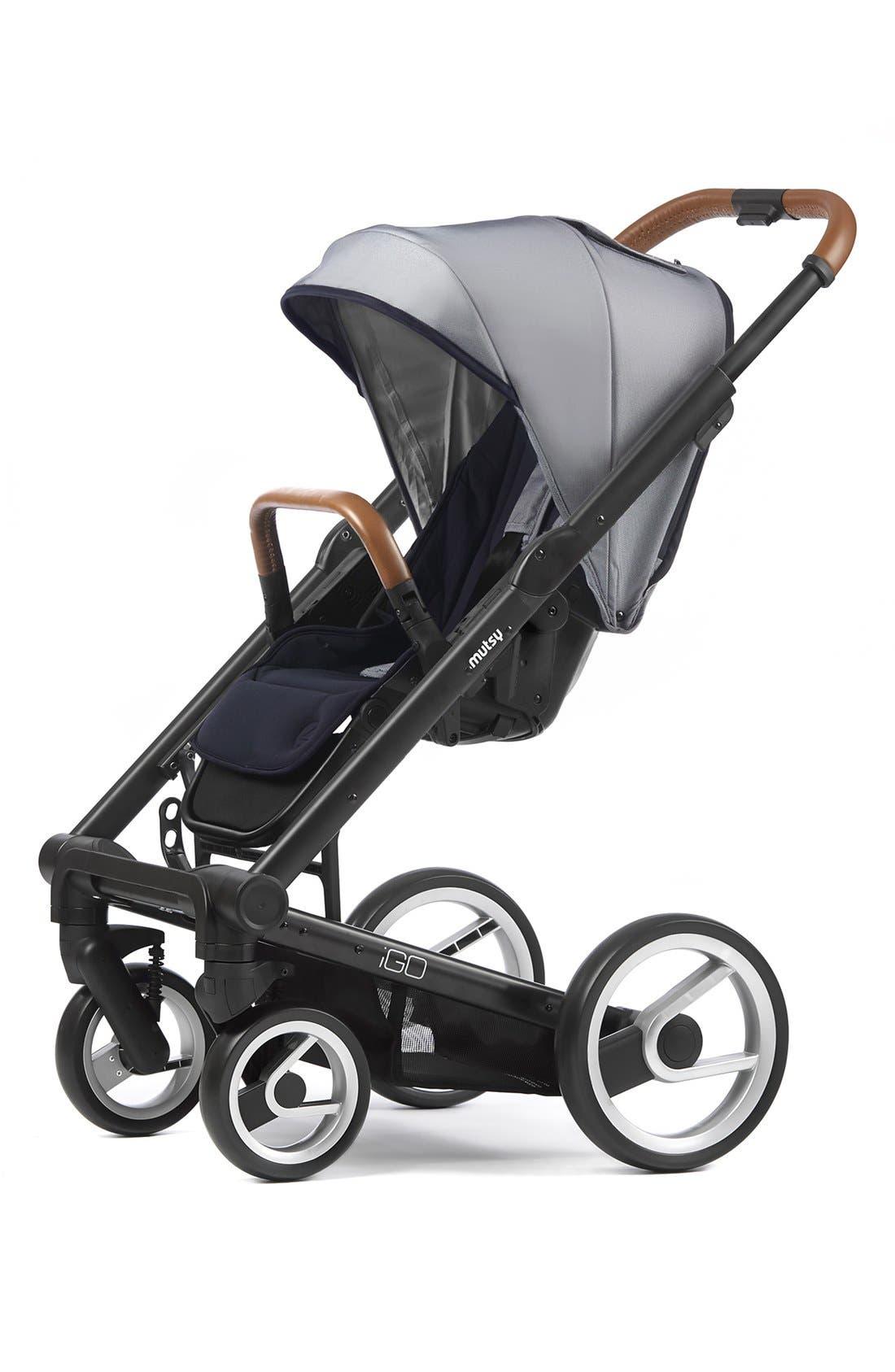 Igo - Urban Nomad Stroller,                             Alternate thumbnail 2, color,                             Black/ White/ Blue