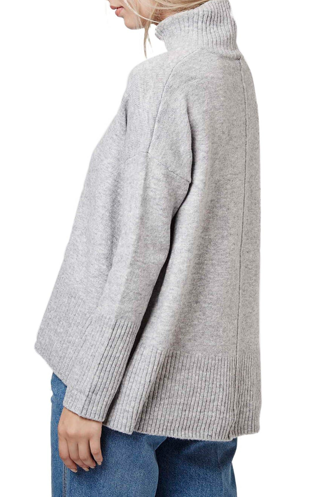 Alternate Image 3  - Topshop Oversize Funnel Neck Sweater