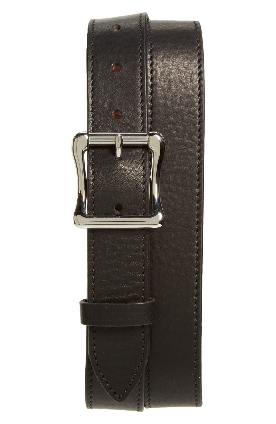 Leather Roller Belt,                             Main thumbnail 1, color,                             Black