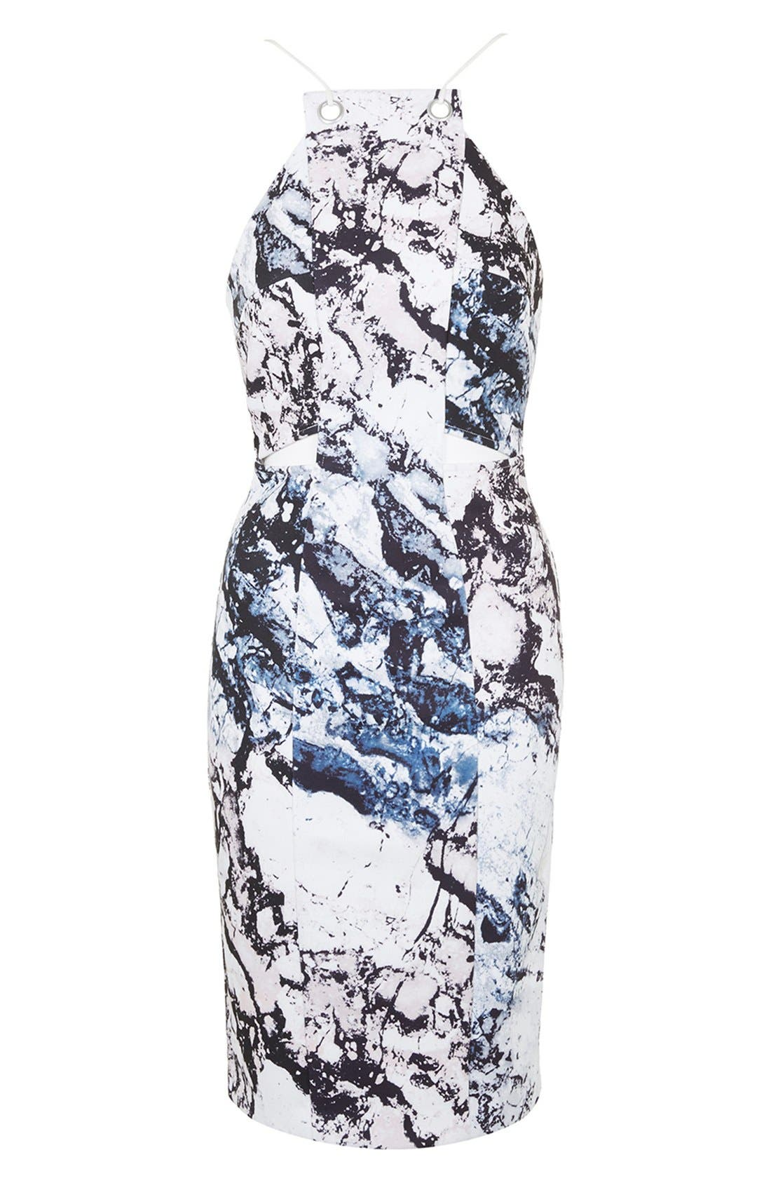 Alternate Image 4  - KENDALL + KYLIE at Topshop Print Cutout Sleeveless Dress