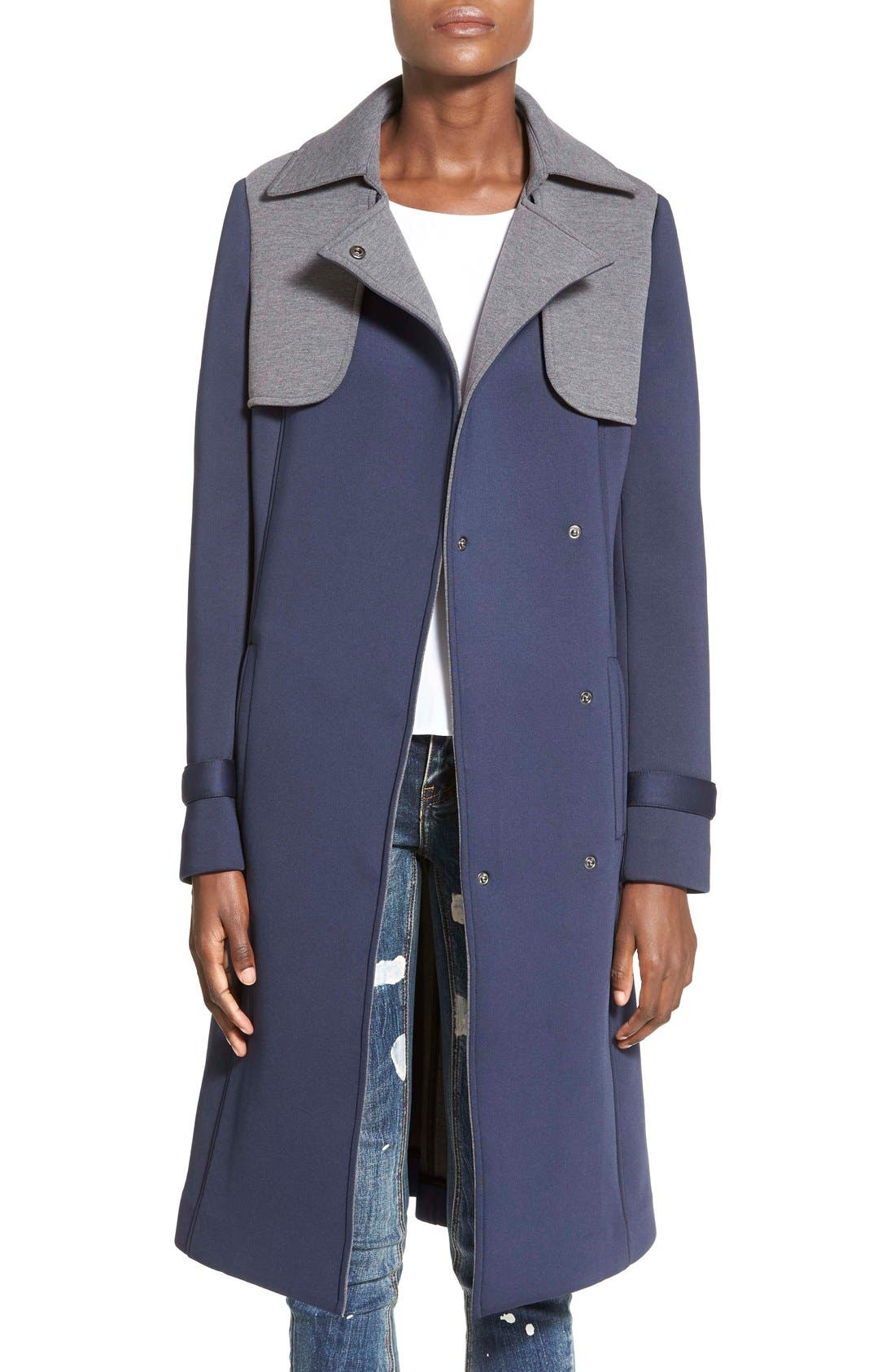Main Image - Mural 'Paris' Contrast Trench Coat