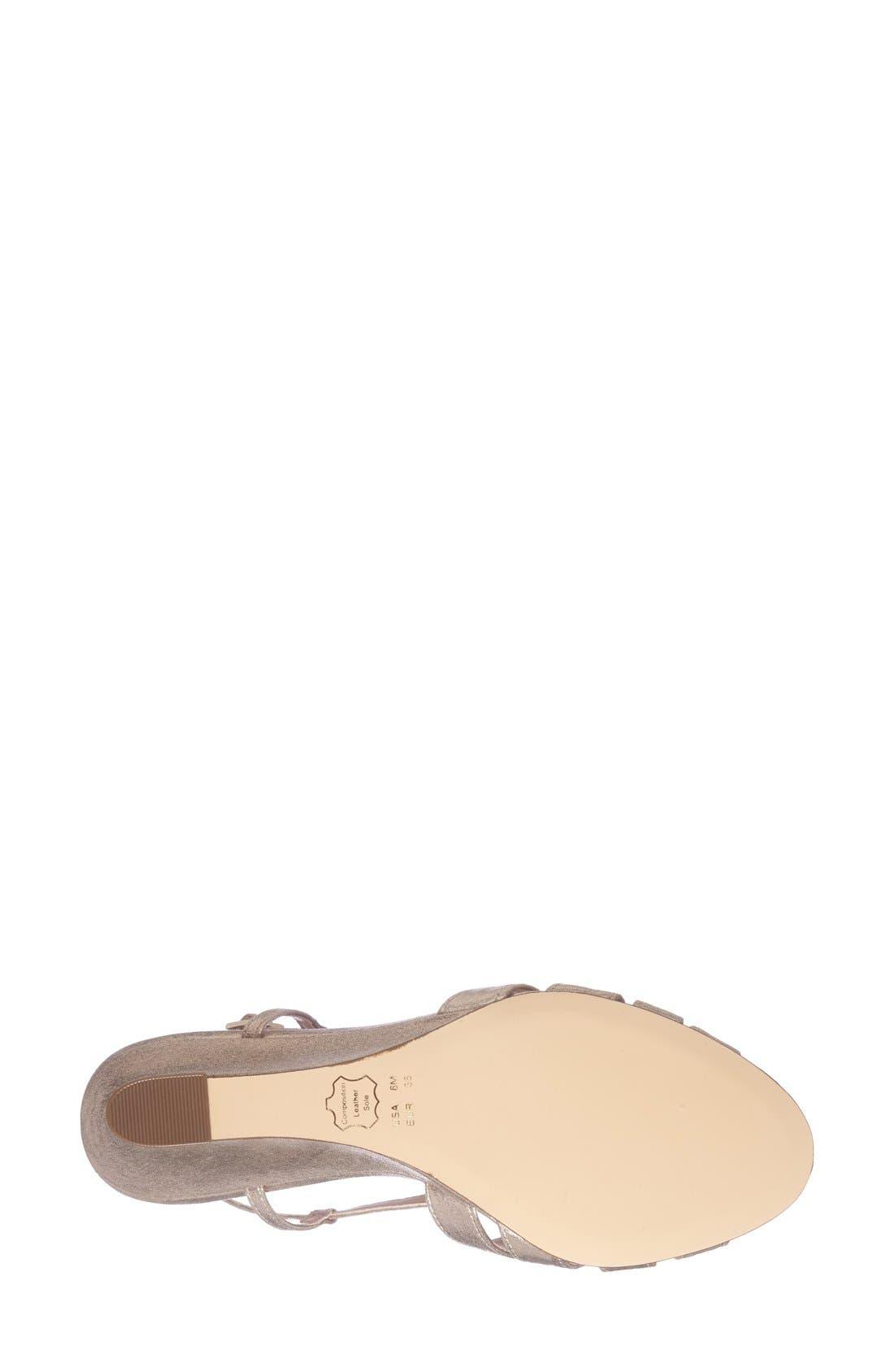 'Voleta' Wedge Sandal,                             Alternate thumbnail 4, color,                             Taupe