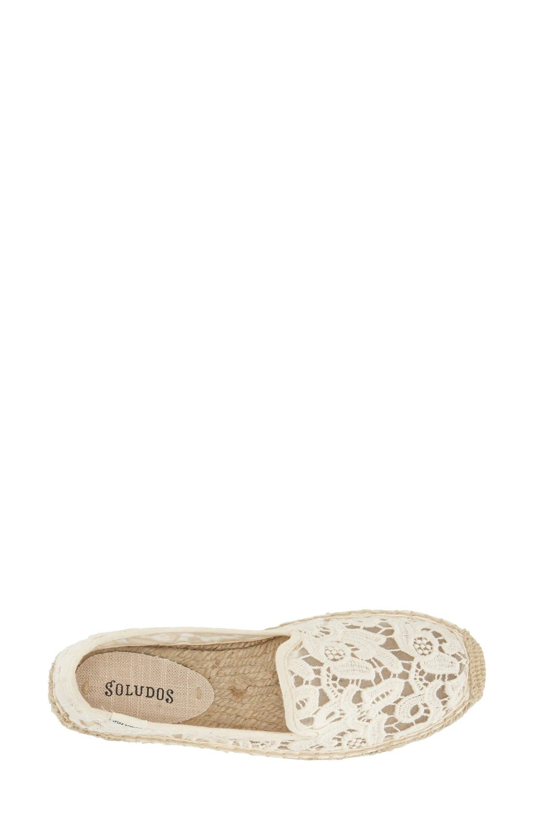 Alternate Image 3  - Soludos Lace Espadrille Slip-On (Women)