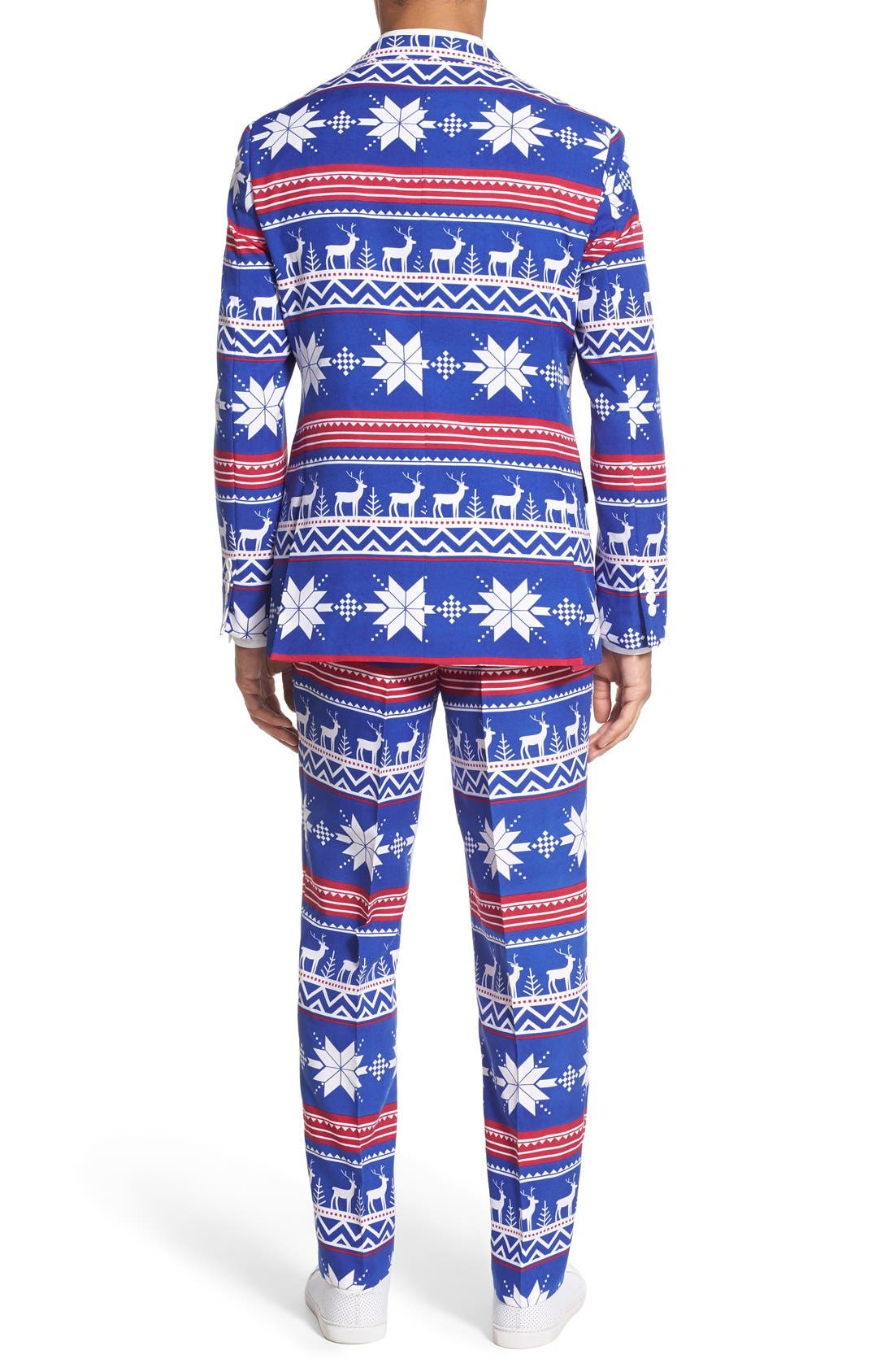 'Rudolph' Holiday Suit & Tie,                             Alternate thumbnail 2, color,                             Blue