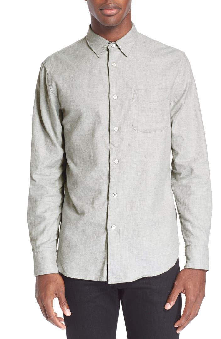 Rag bone trim fit flannel shirt nordstrom for Trim fit flannel shirts