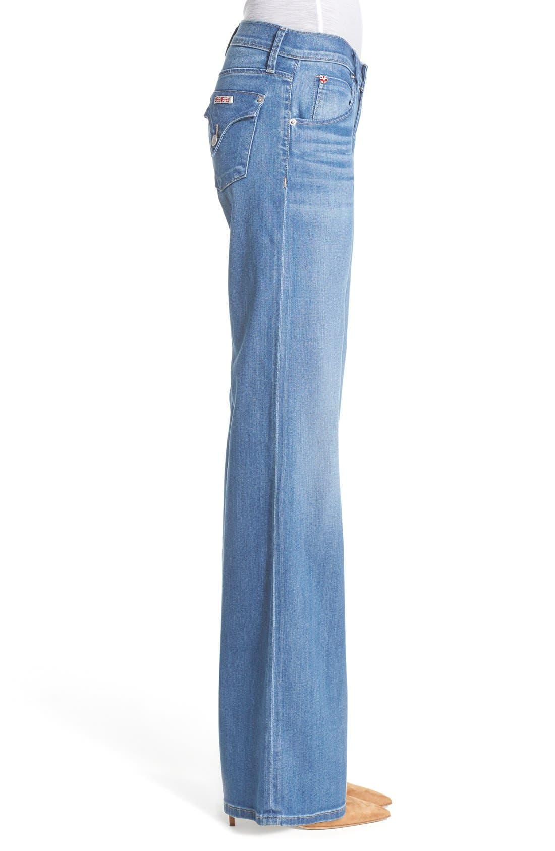 'Brooke' Wide Leg Jeans,                             Alternate thumbnail 3, color,                             Nightingale