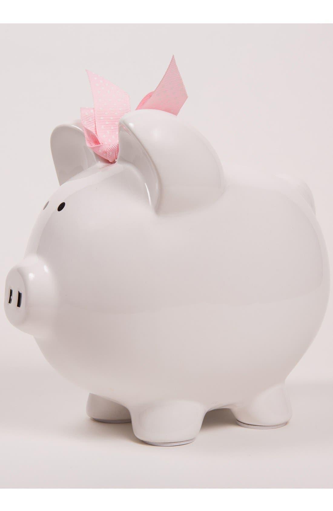 Personalized Piggy Bank,                             Alternate thumbnail 3, color,                             White