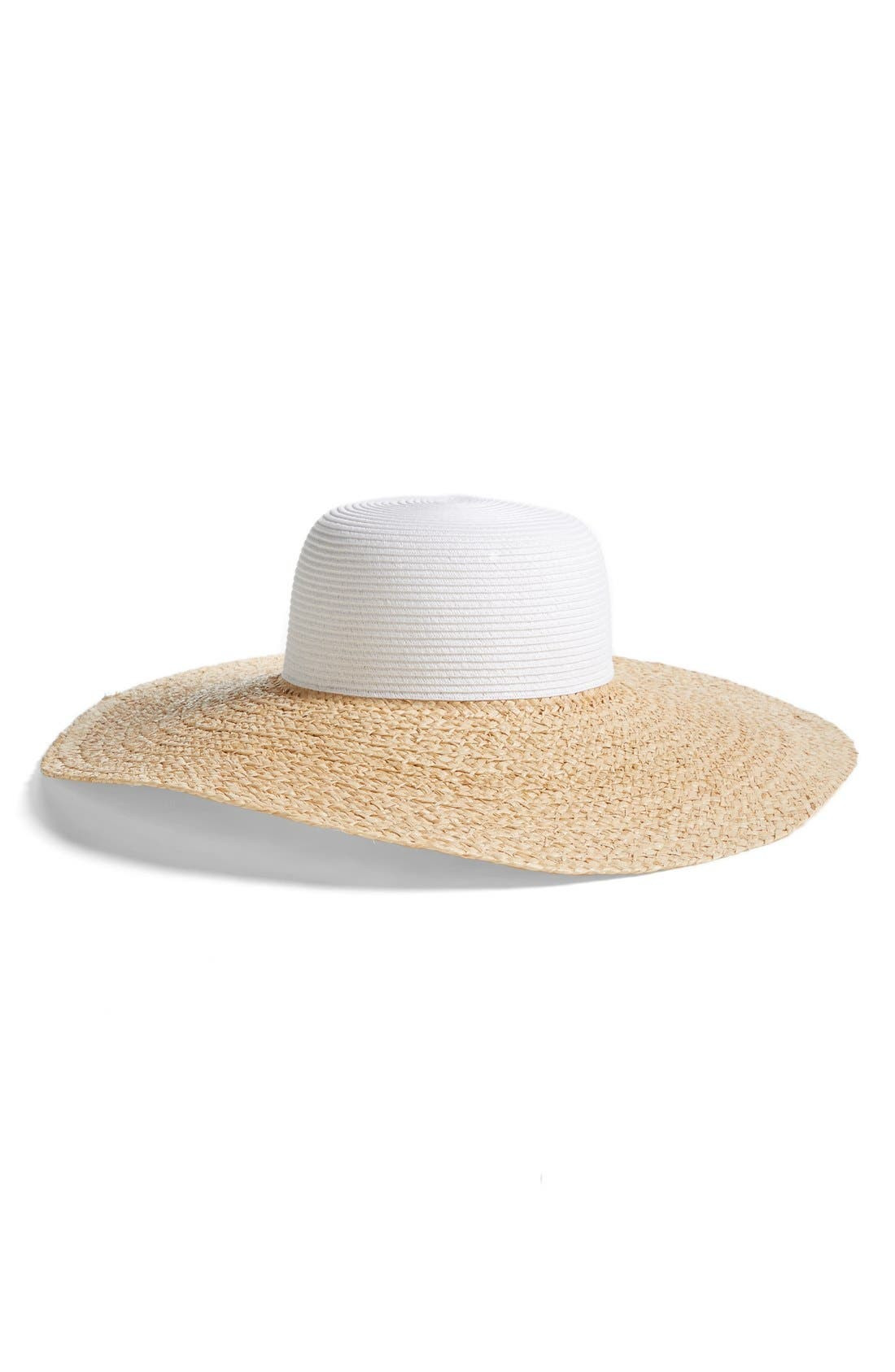 Main Image - Caslon® Colorblock Floppy Sun Hat