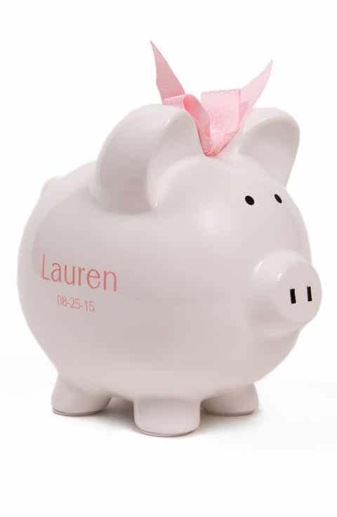 White personalized baby gifts nordstrom someday inc personalized piggy bank negle Gallery