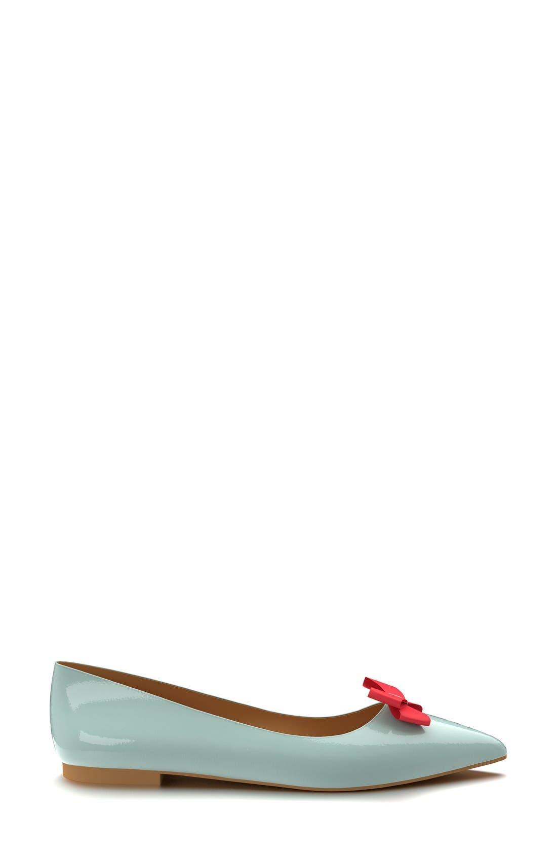 Alternate Image 4  - Shoes of Prey Pointy Toe Flat (Women)