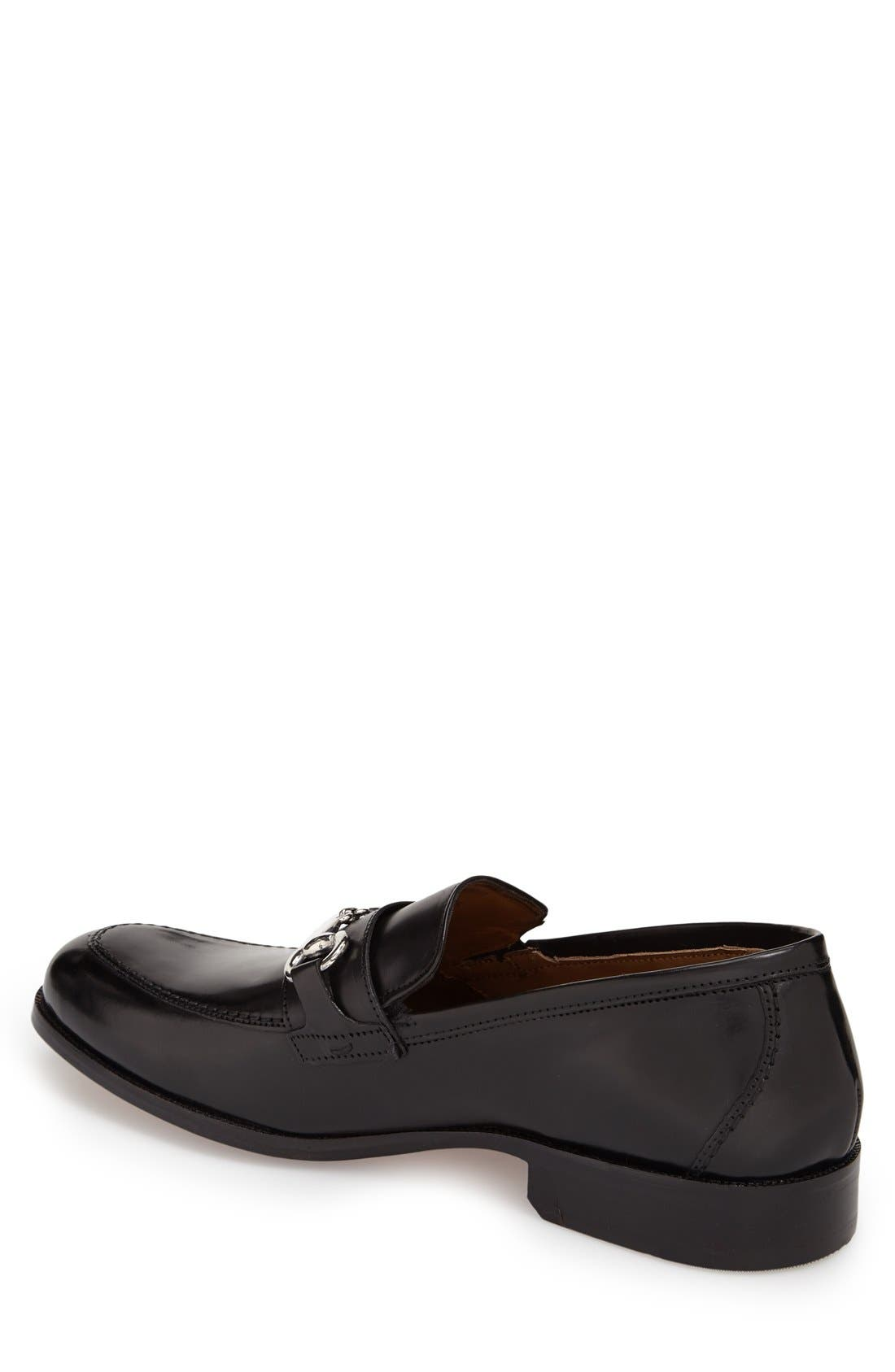 'Stratton' Bit Loafer,                             Alternate thumbnail 2, color,                             Black