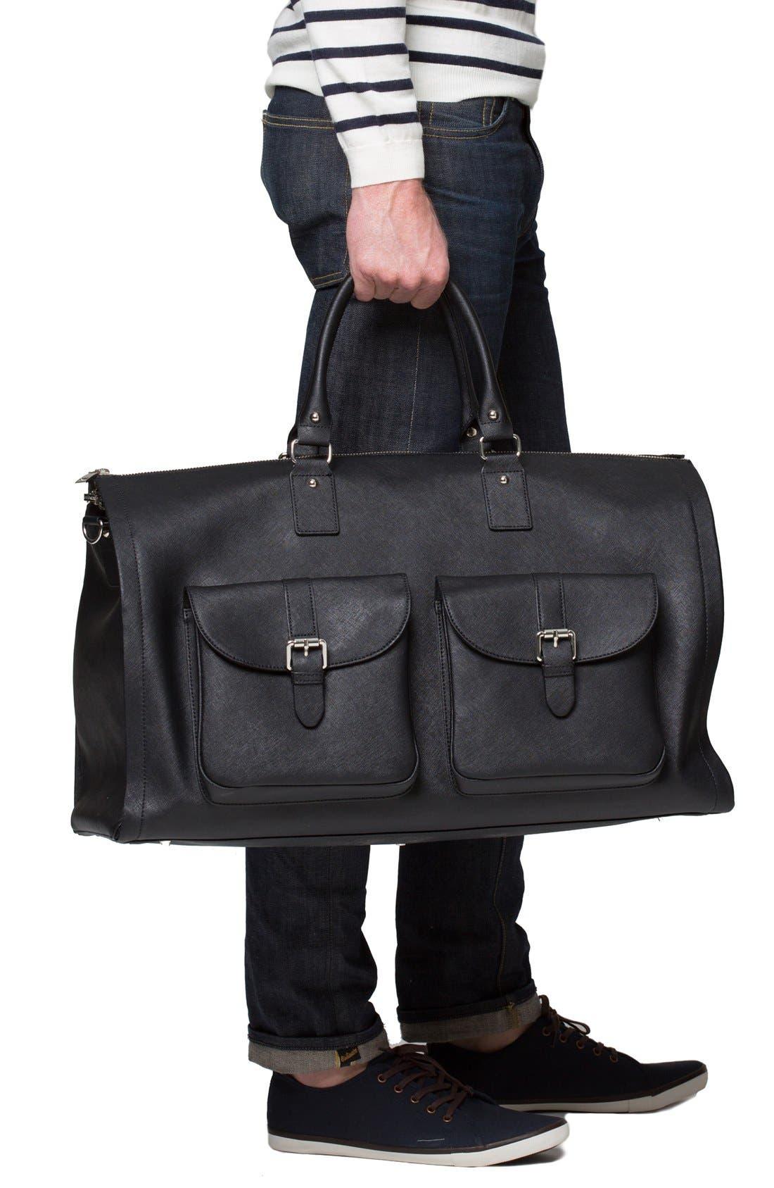 Alternate Image 7  - hook + ALBERT Saffiano Leather Garment/Duffel Bag