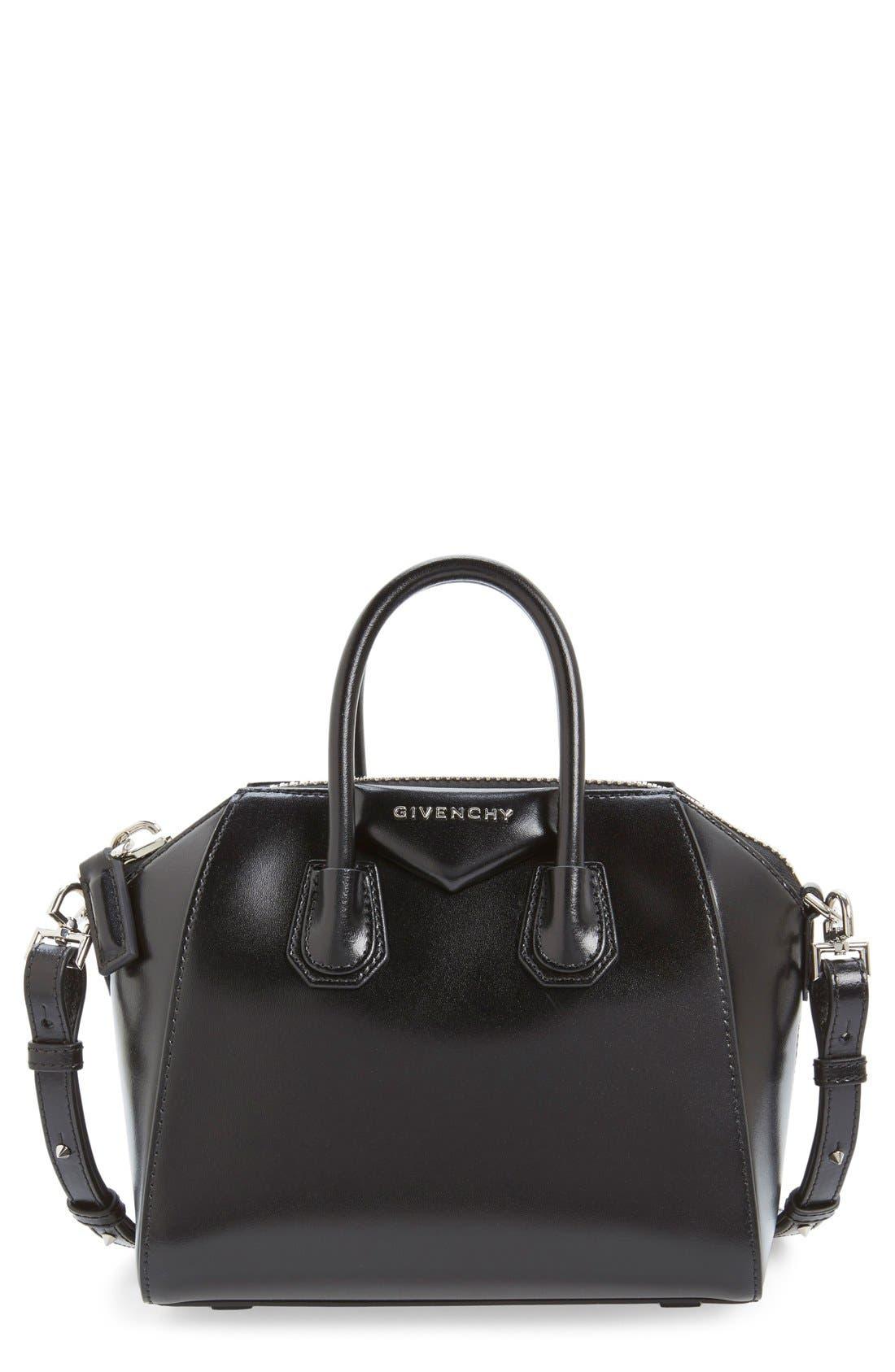 GIVENCHY Mini Antigona Box Leather Satchel