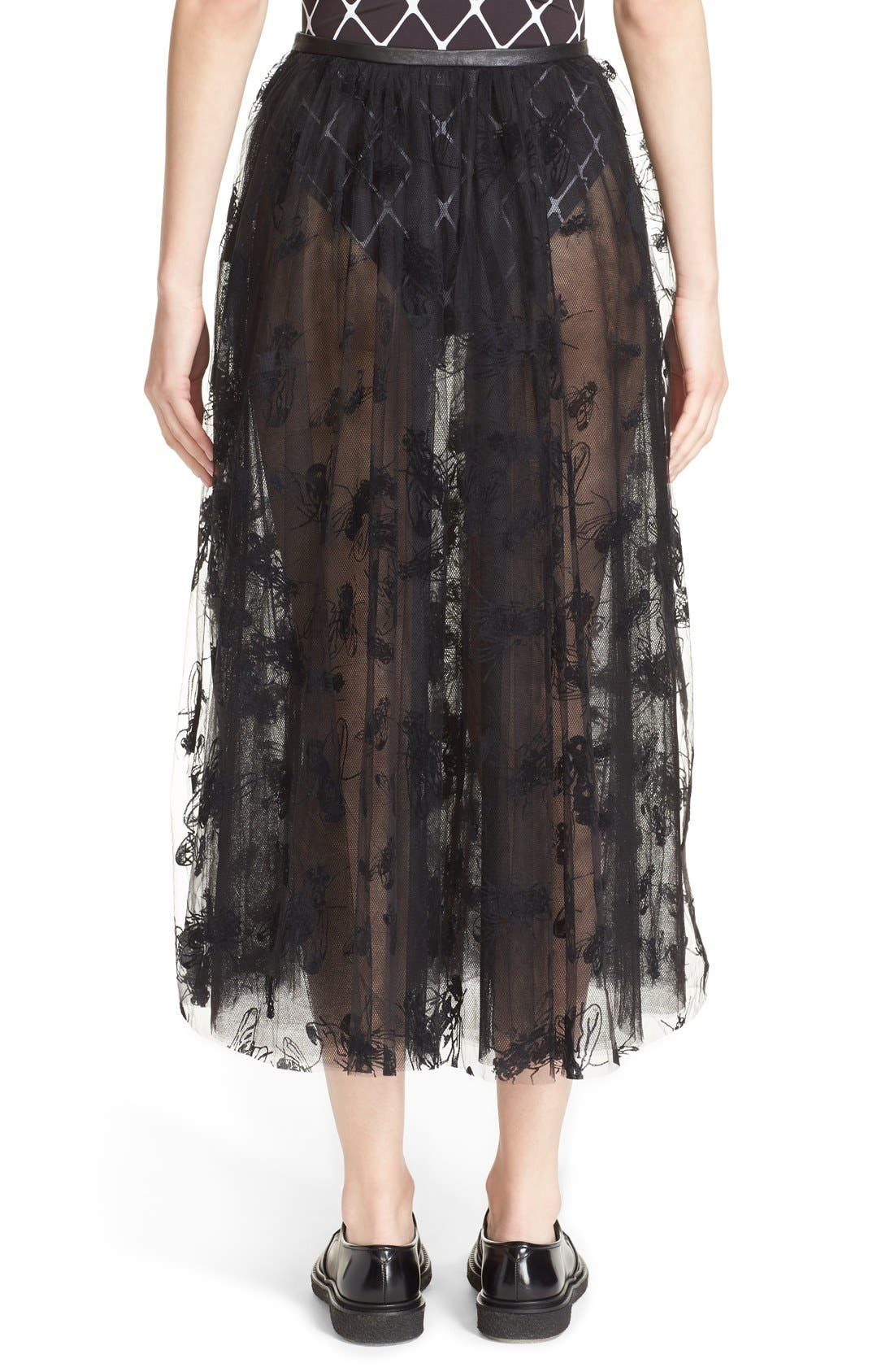 Alternate Image 2  - Ashley Williams 'Flock Fly' Sheer Tulle Skirt