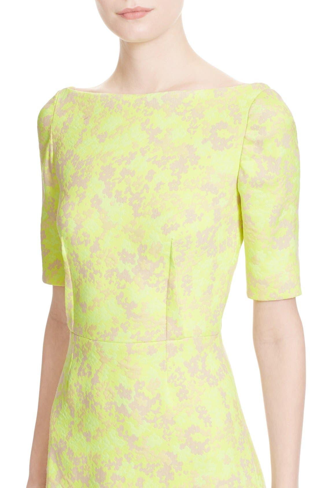 Alternate Image 6  - Lela Rose Floral Jacquard Sheath Dress