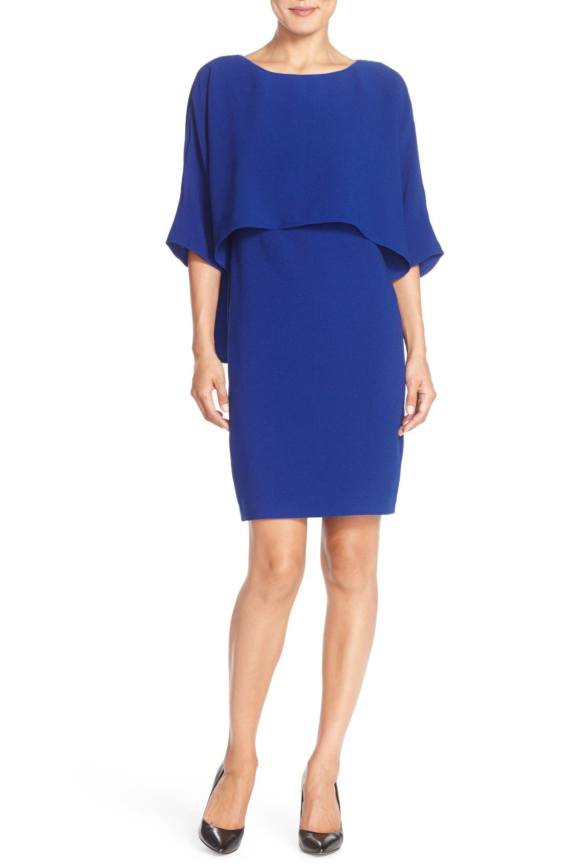 Alternate Image 4  - Adrianna Papell Draped Blouson Sheath Dress