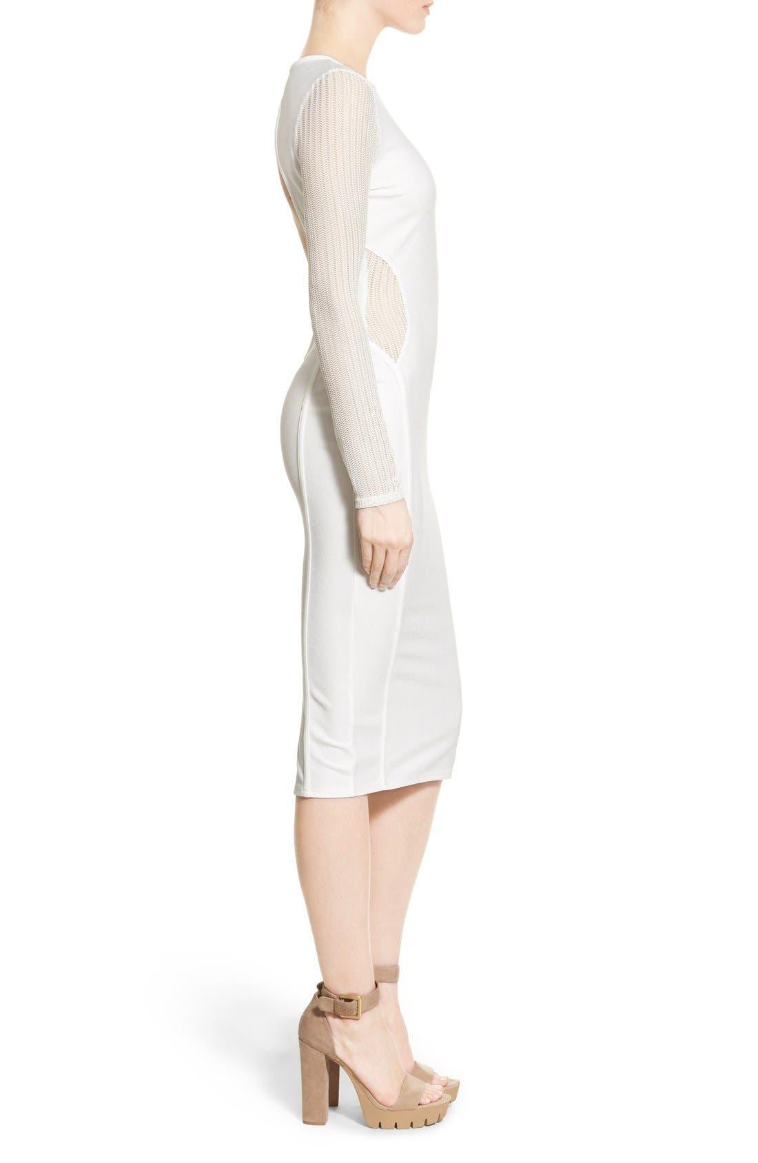 Alternate Image 3  - Missguided Open Back Midi Dress