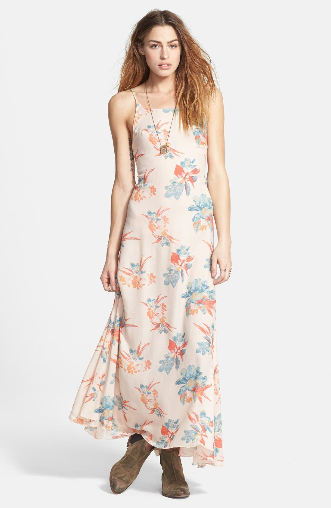 Alternate Image 1 Selected - Free People 'Star Chasing' Floral Maxi Slip Dress