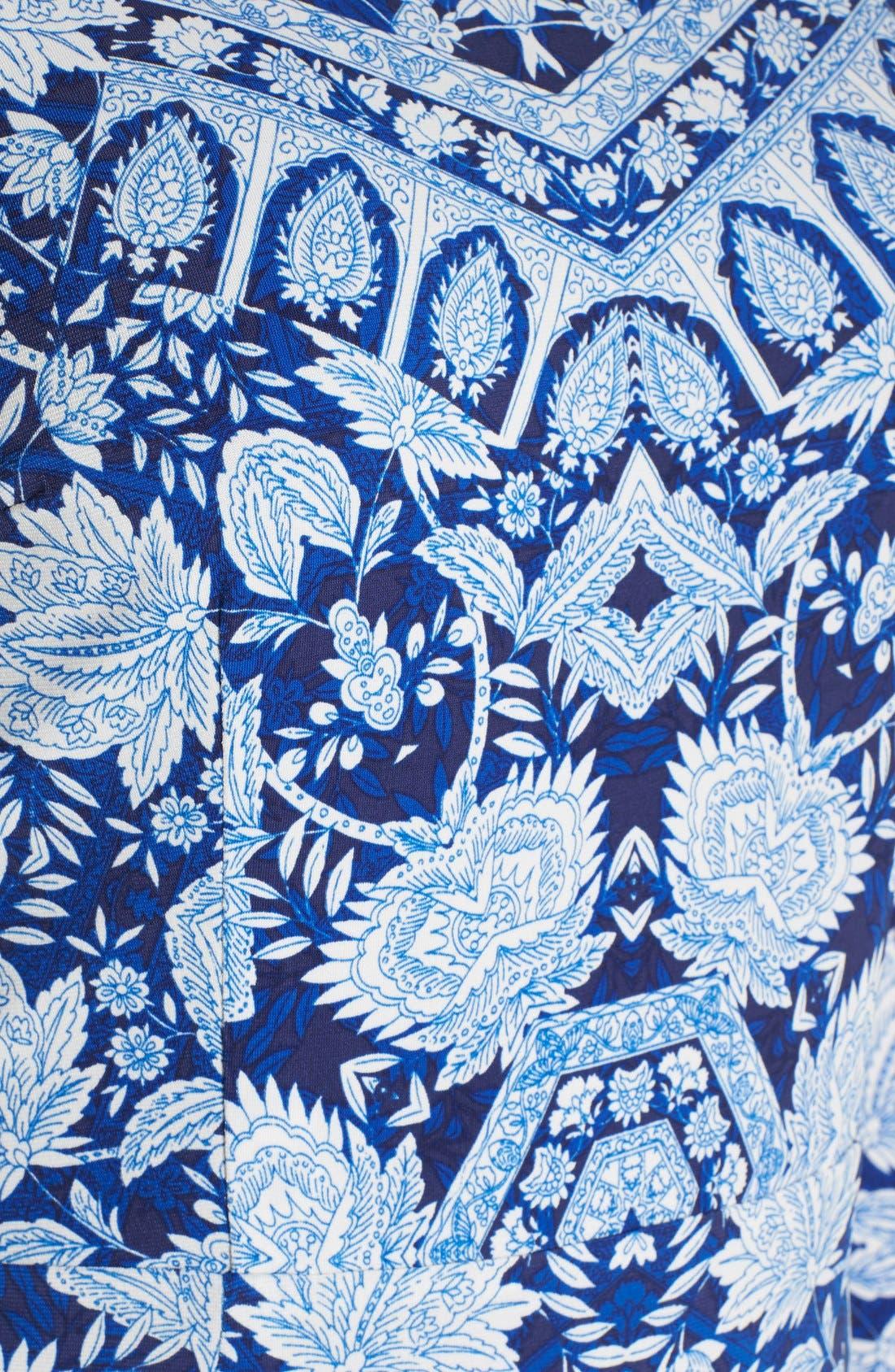 Alternate Image 5  - Maggy London Print Jersey Midi Dress