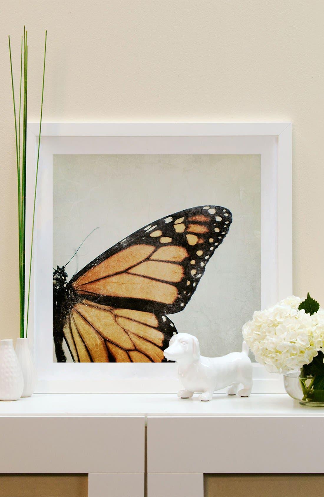 Alternate Image 2  - iCanvas 'The Monarch' Framed Fine Art Print