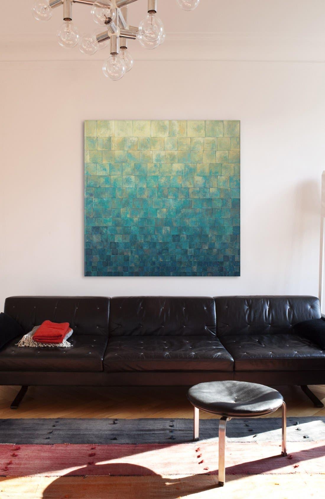 'Cascade' Giclée Print Canvas Art,                             Alternate thumbnail 2, color,                             Blue