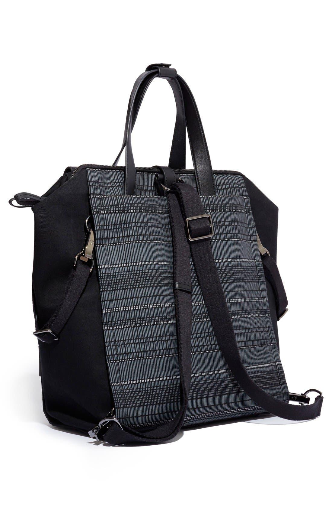 'Highline' Convertible Diaper Backpack,                             Alternate thumbnail 2, color,                             Black Granite