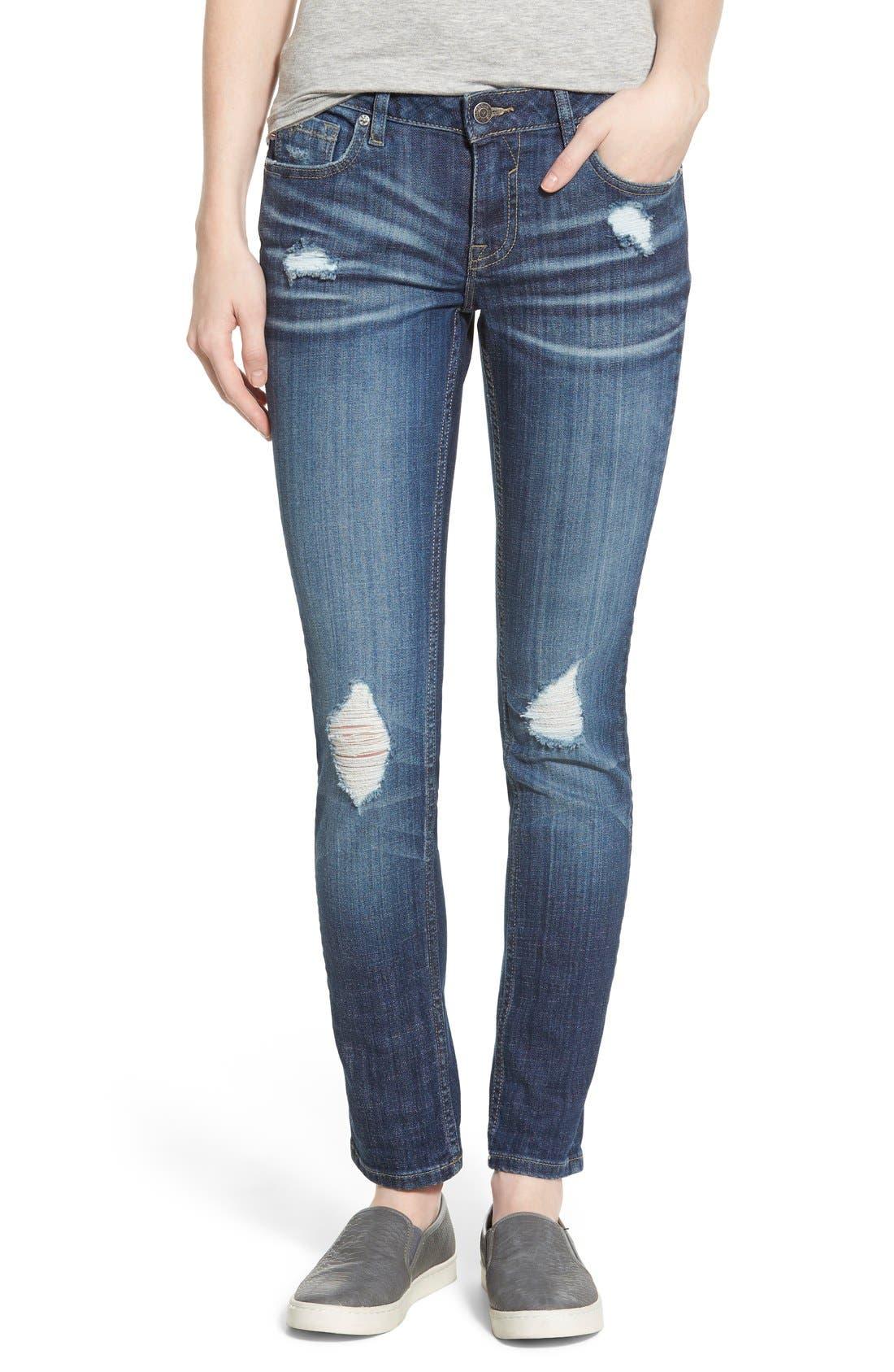 Main Image - Vigoss 'Tomboy' Destroyed Skinny Jeans