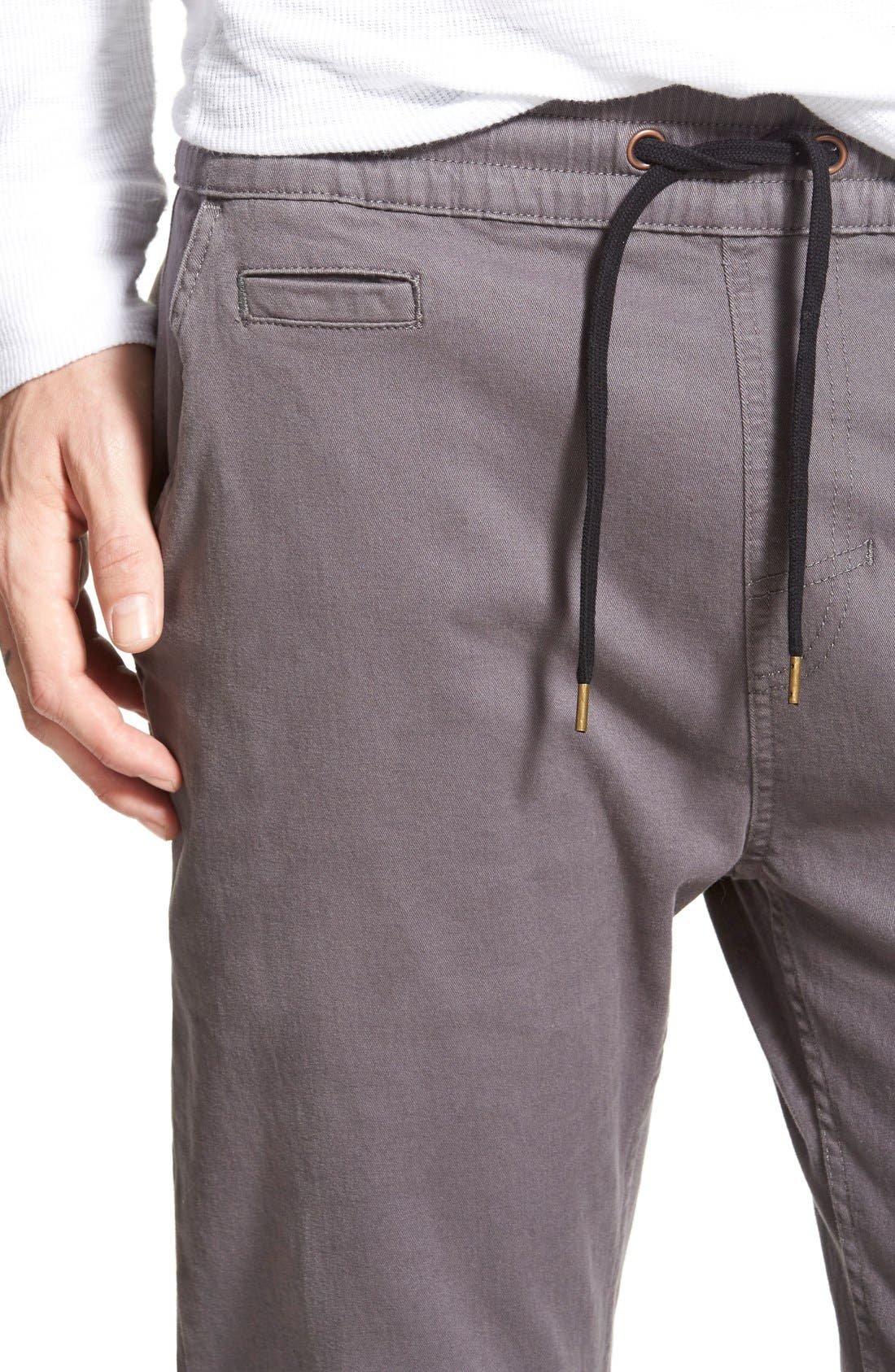'Denny' Woven Jogger Pants,                             Alternate thumbnail 4, color,                             Charcoal