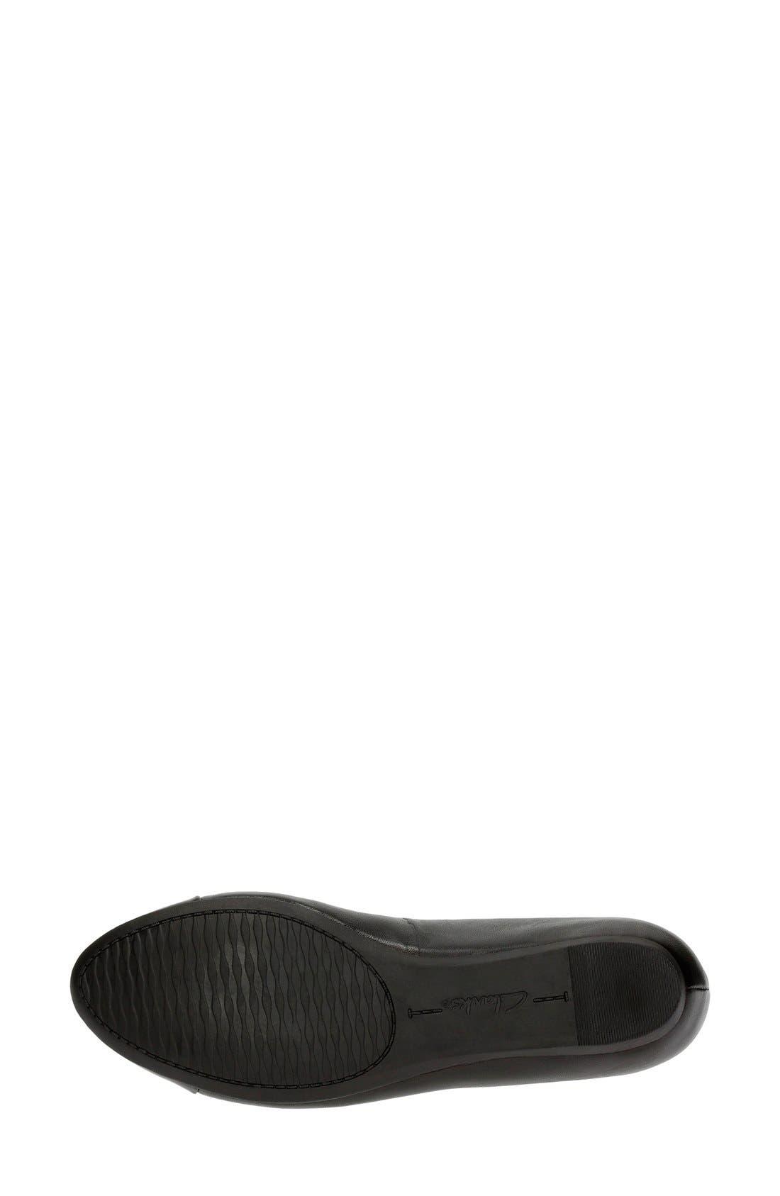 Alternate Image 4  - Clarks® 'Alitay Susan' Cap Toe Flat (Women)