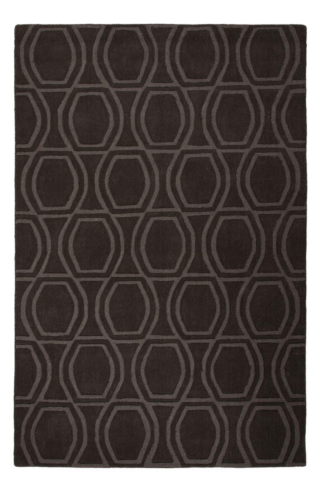 'astor' wool rug,                             Main thumbnail 1, color,                             Charcoal Grey