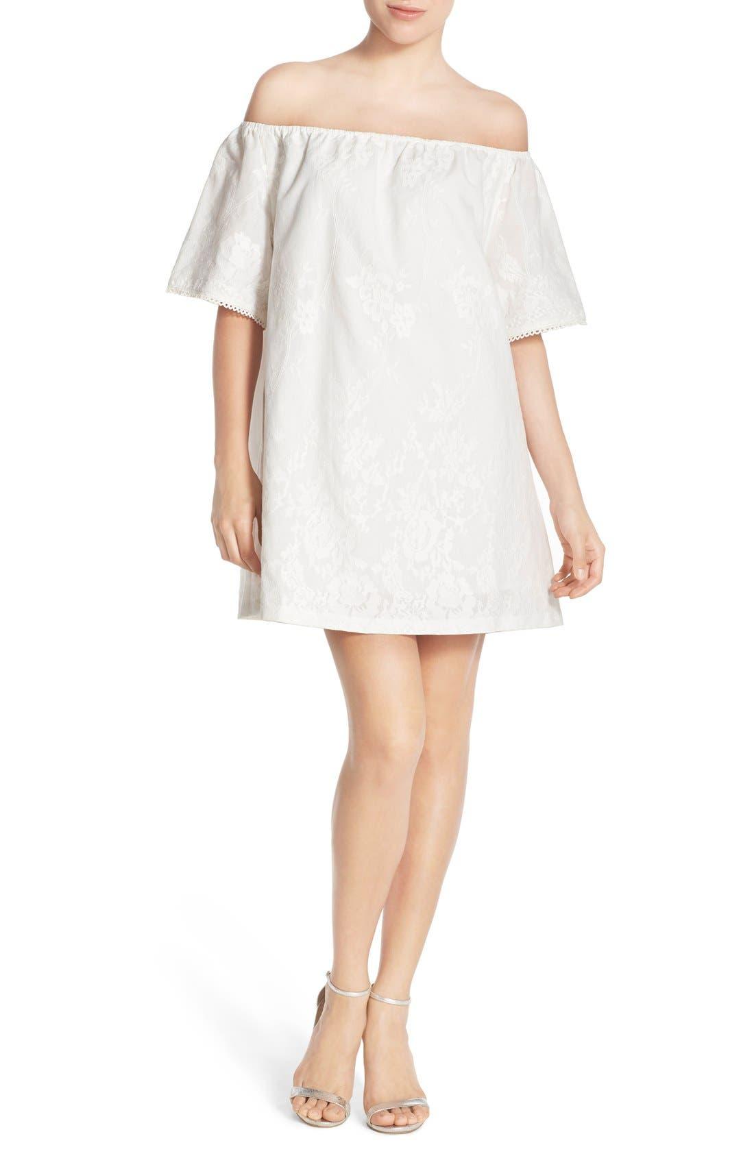 Alternate Image 1 Selected - BB Dakota 'Manda' Off the Shoulder Cotton Shift Dress